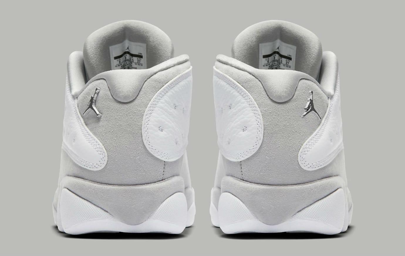 Air Jordan 13 Low Pure Platinum Release Date Heel 310810-100