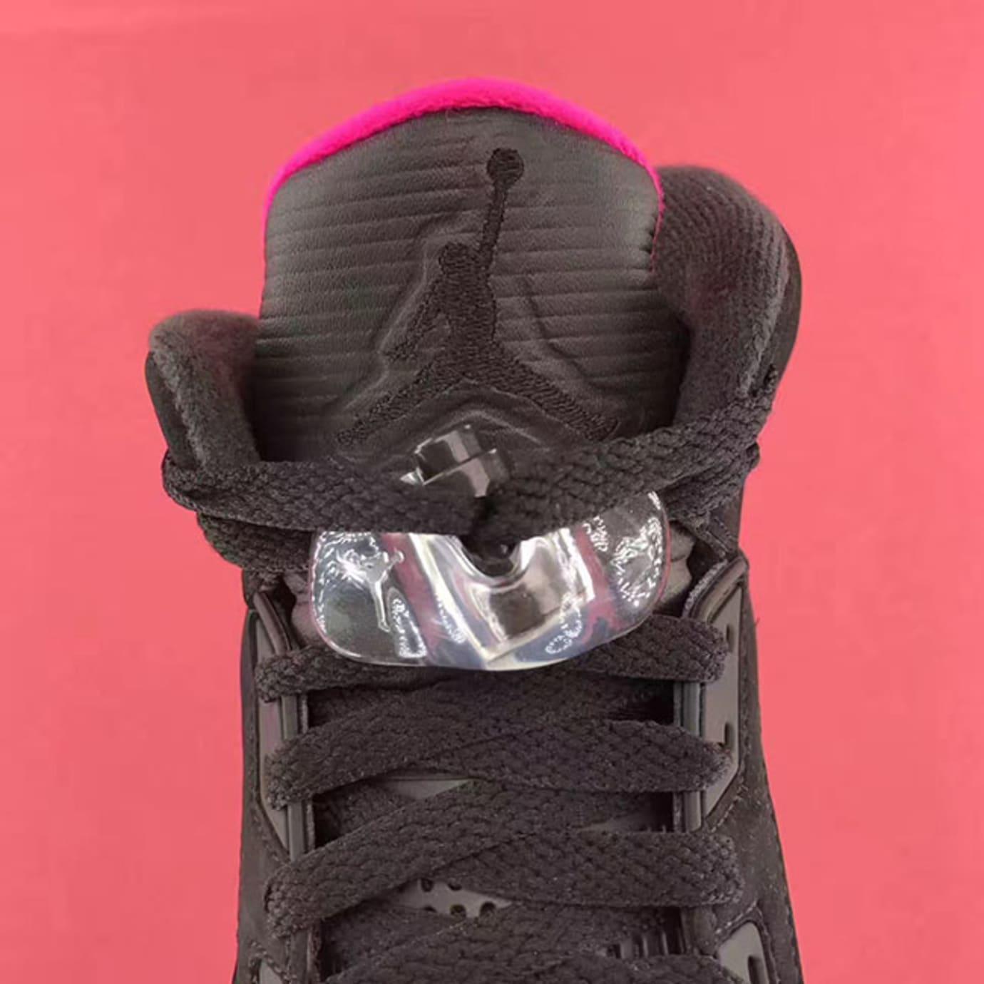 Air Jordan 5 GS Deadly Pink Release Date Tongue 440892-029