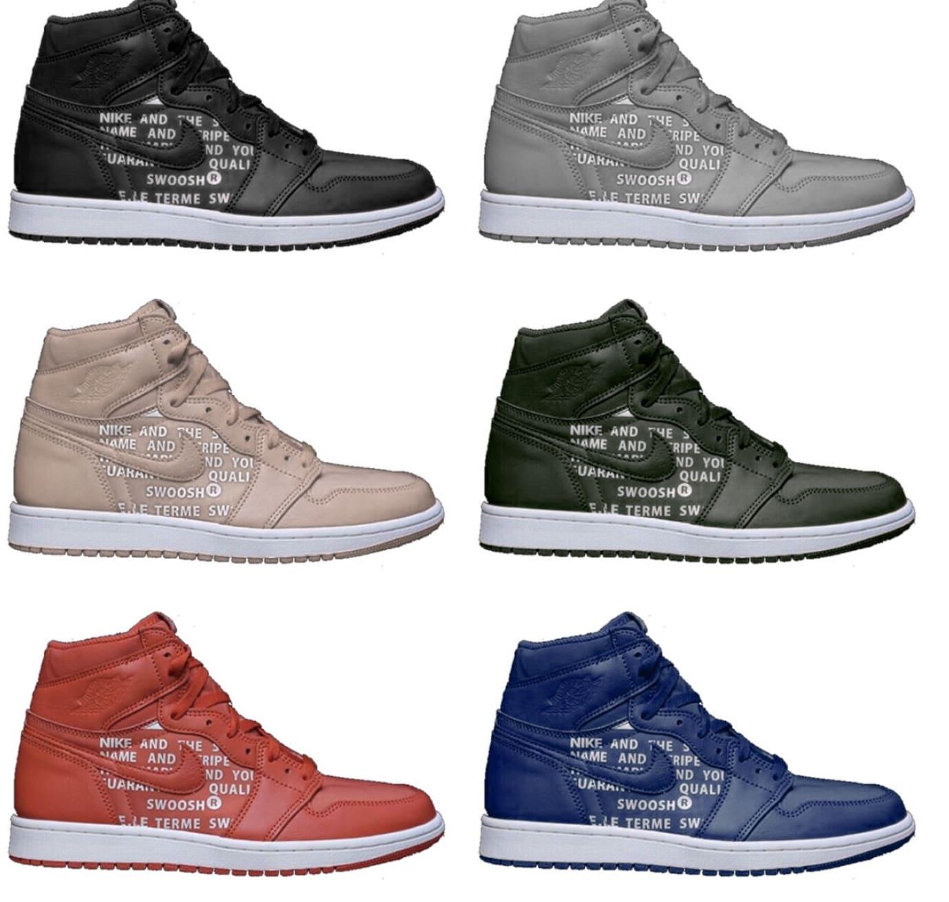 Air Jordan 1 Canvas/Leather Pack