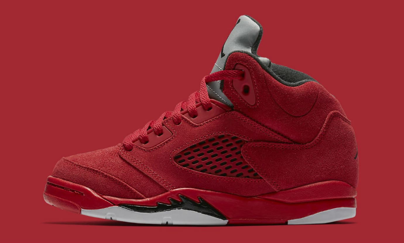Air Jordan 5 Red Suede Preschool Release Date 440889-602