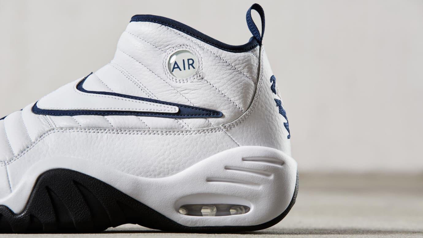 Nike Air Shake Ndestrukt White Navy Rear Quarter Release Date