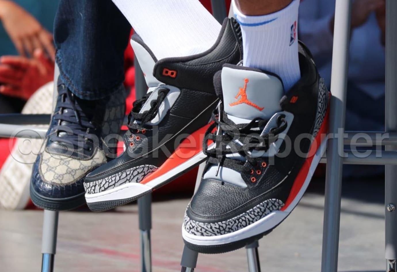 Black Orange Air Jordan 3 OKC