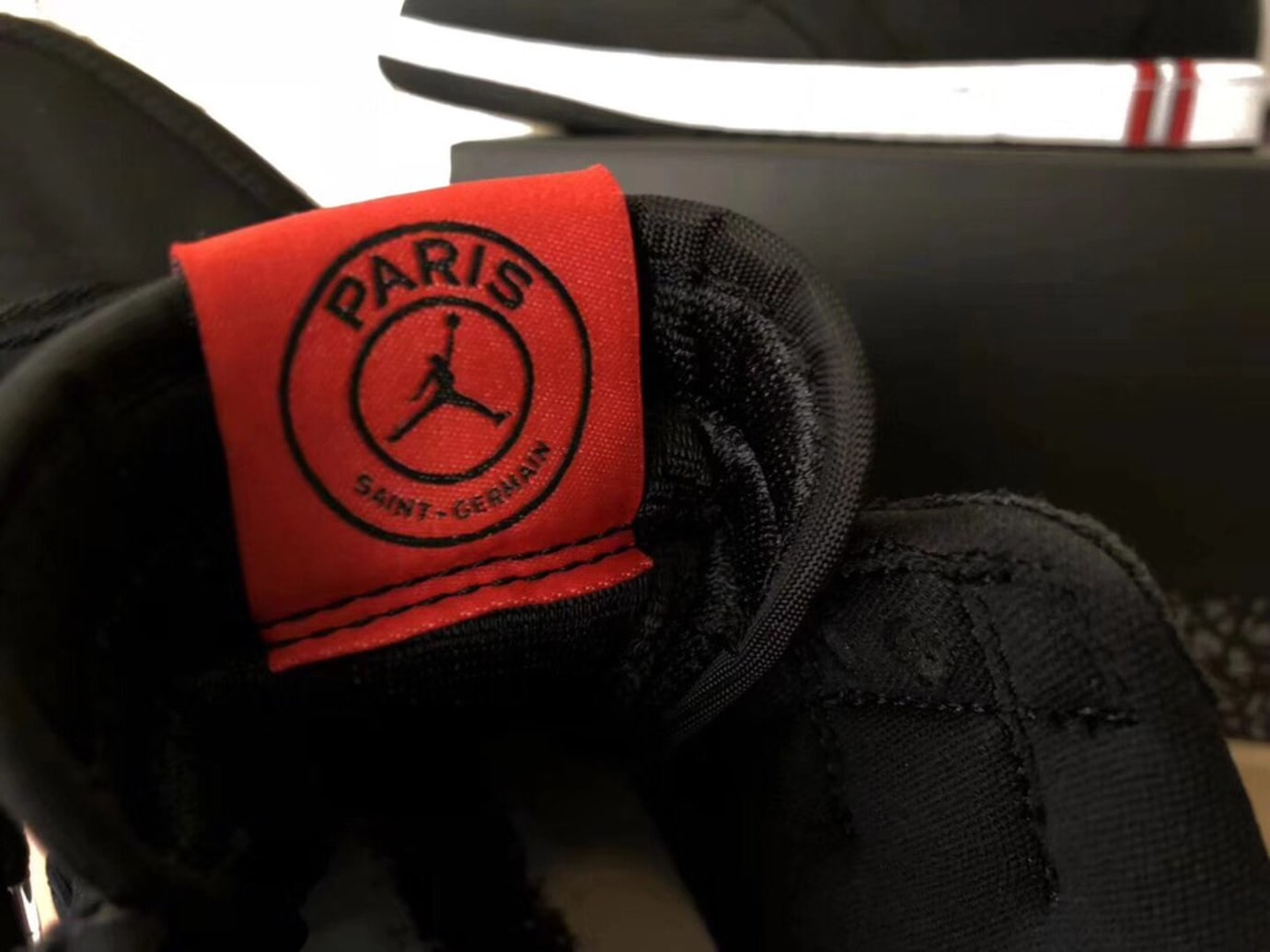 7332b144b17be5 Image via  Pinoe77 · Air Jordan 1 High  Paris Saint-Germain  (Tongue Logo)