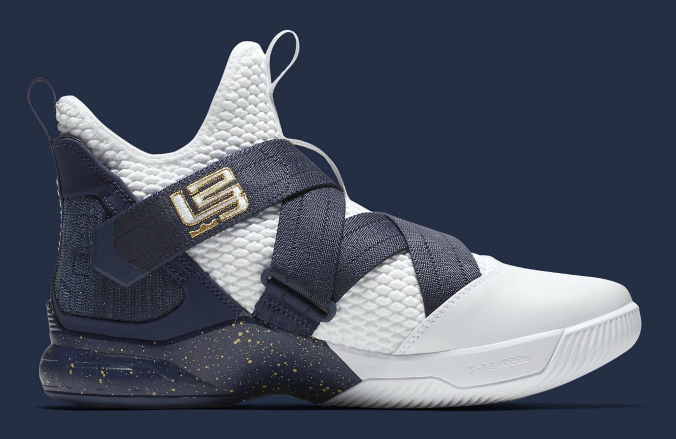 80ef94541bb1 Nike LeBron Soldier 12 XII Witness Navy Release Date AO4055-100 Medial