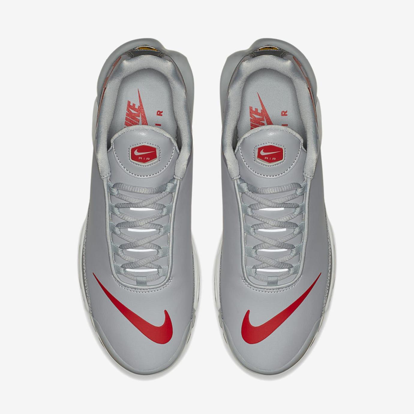 reputable site 65684 1ae0e Image via US11 · Nike Air Max Plus Leather Big Logo  Grey Red  (Top)