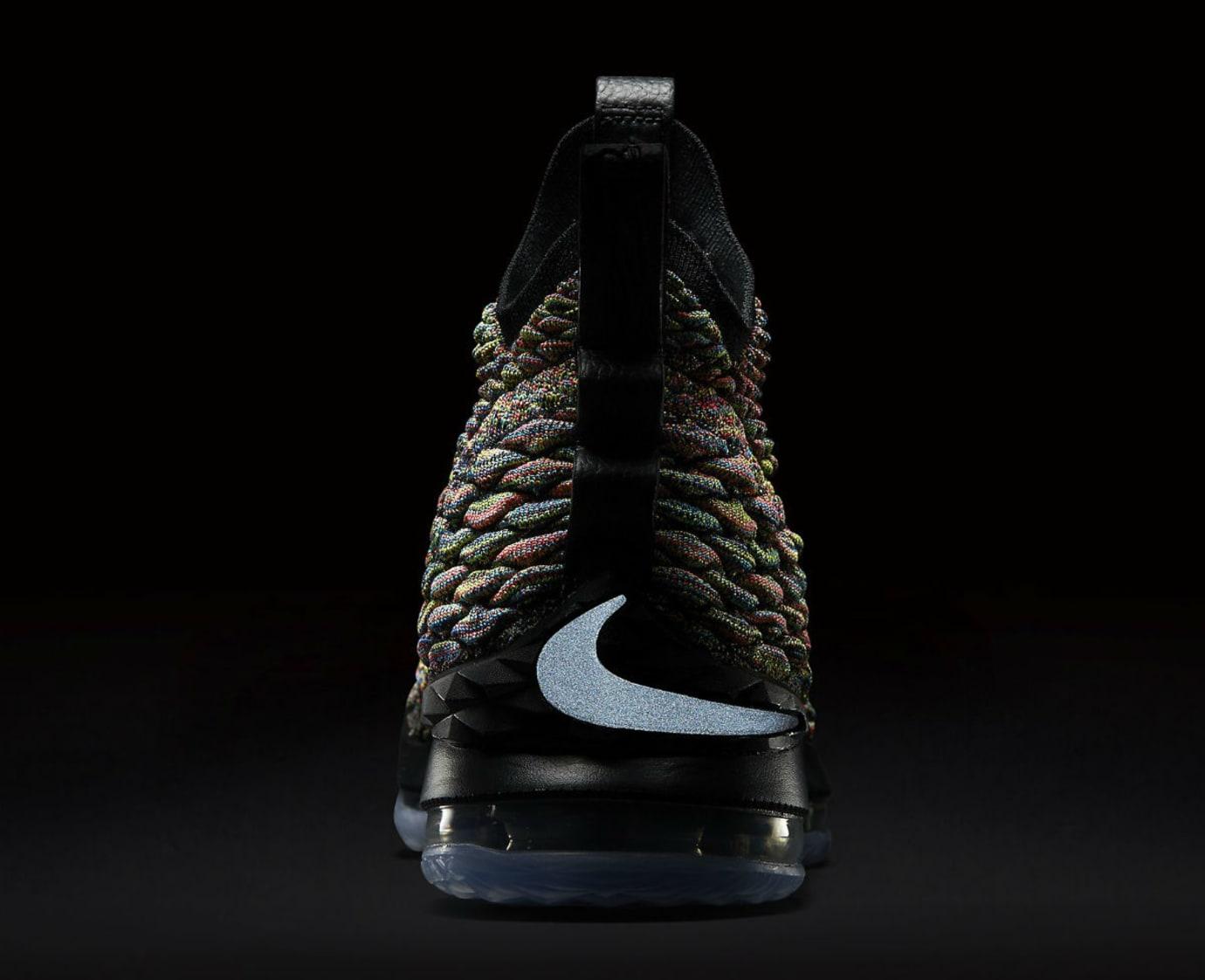 328035e628f Nike LeBron 15 XV Four Horsemen Black Fruity Pebbles Release Date  897648-901 3M