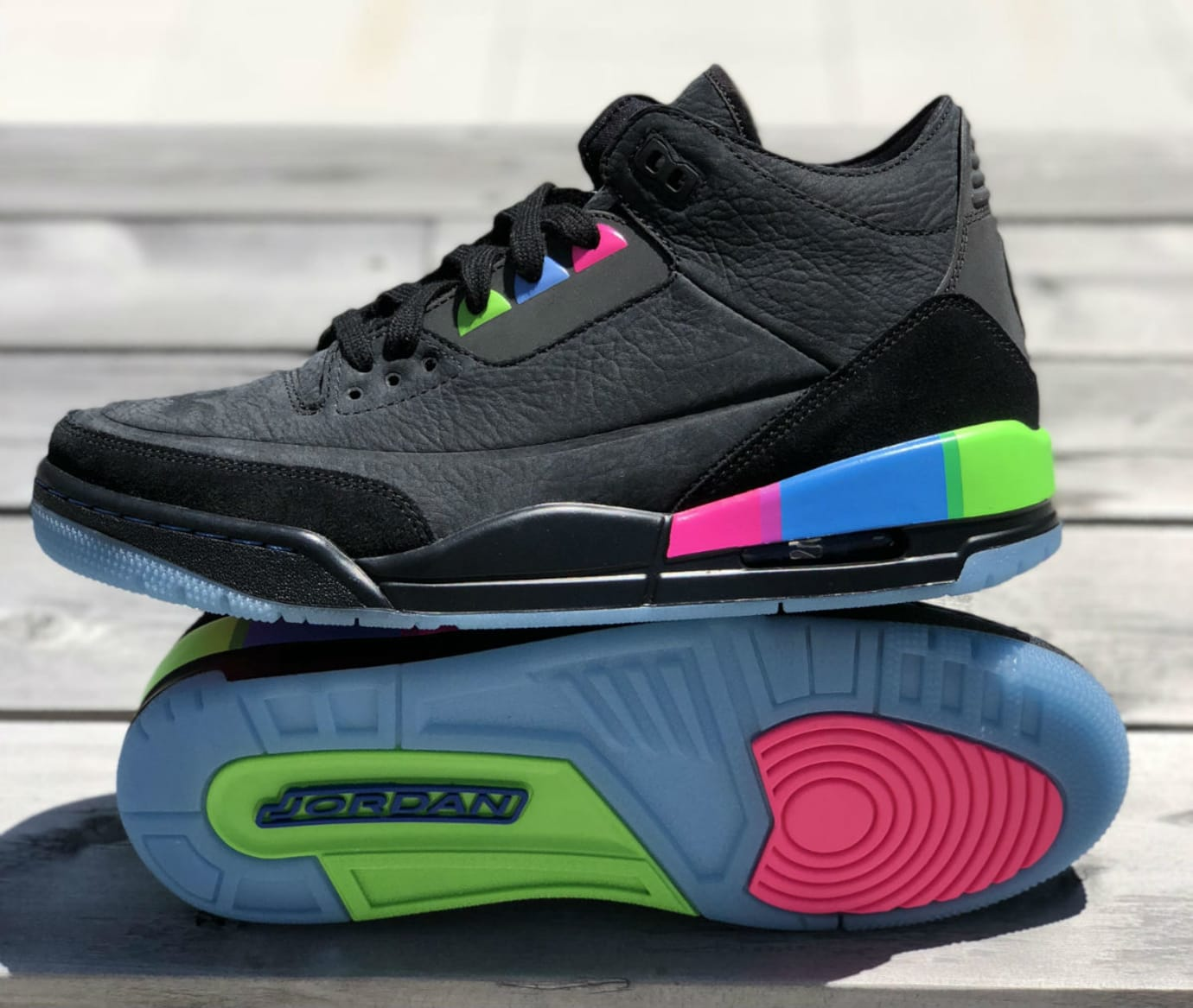 Air Jordan 3 III Quai 54 Release Date AT9195-001 Sole