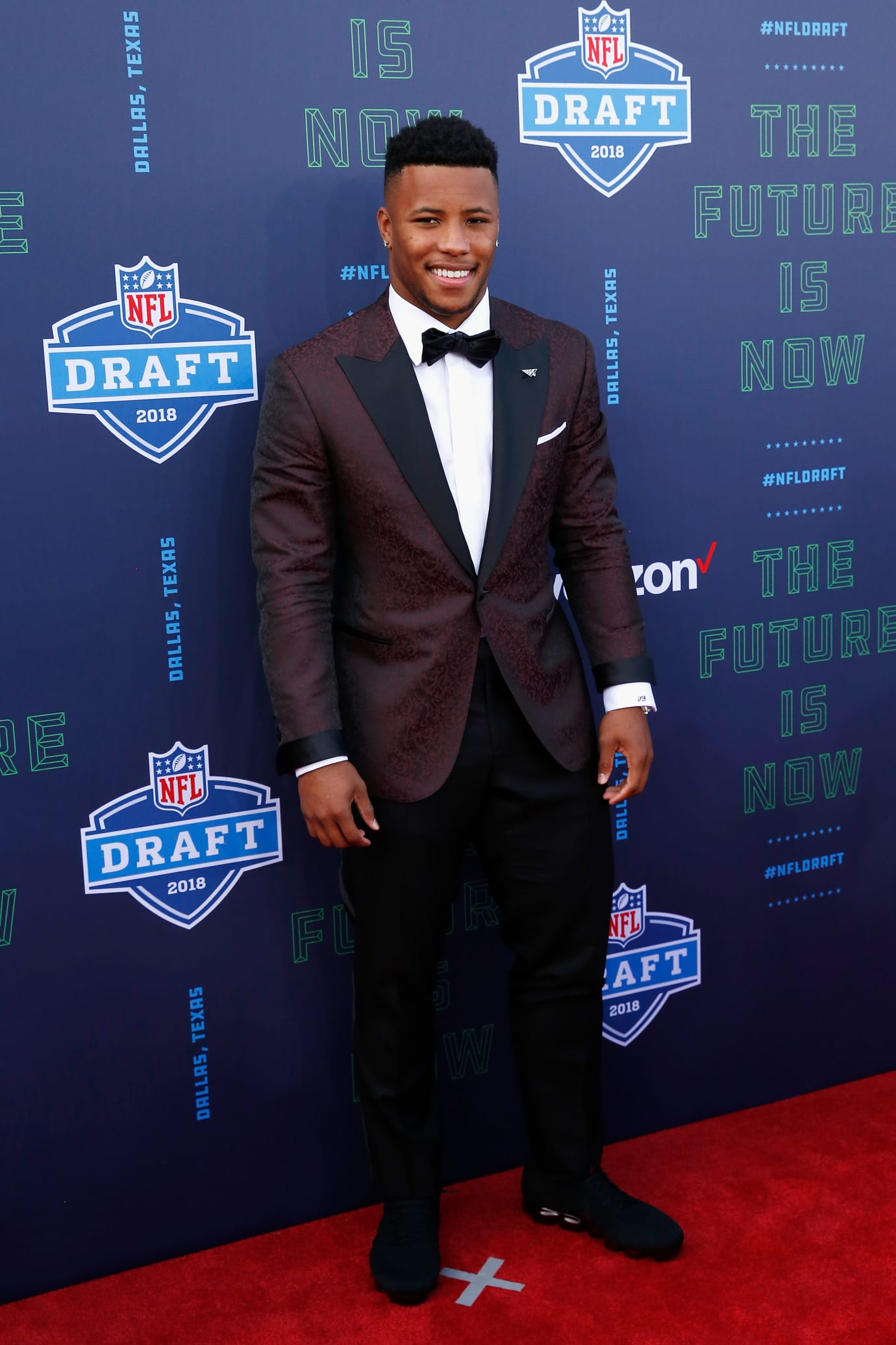 best website c5148 de688 Saquon Barkley Nike Air VaporMax Draft Day | Sole Collector