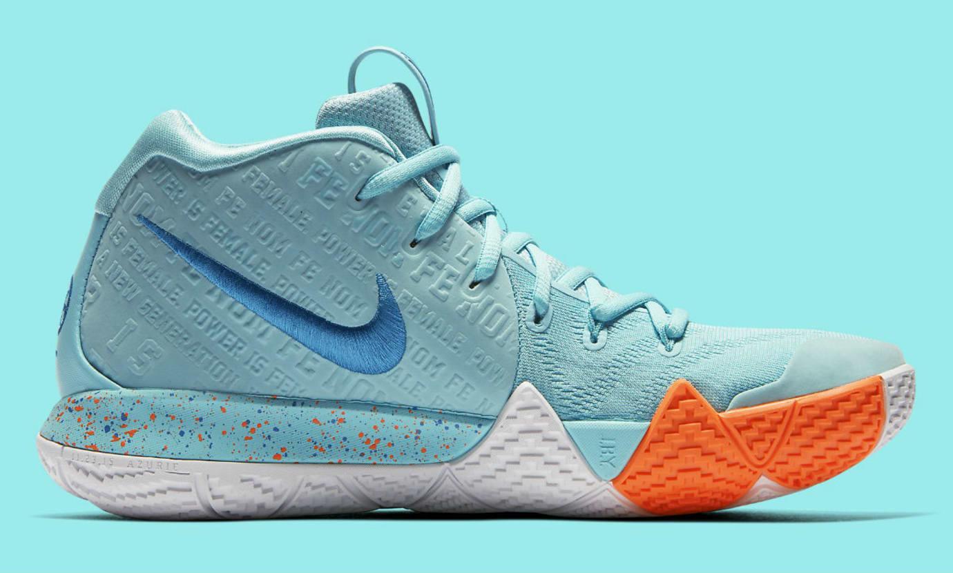 b7a6f3d9aaaa Image via Nike NIke Kyrie 4 Power Is Female Release Date 943806-402 Medial