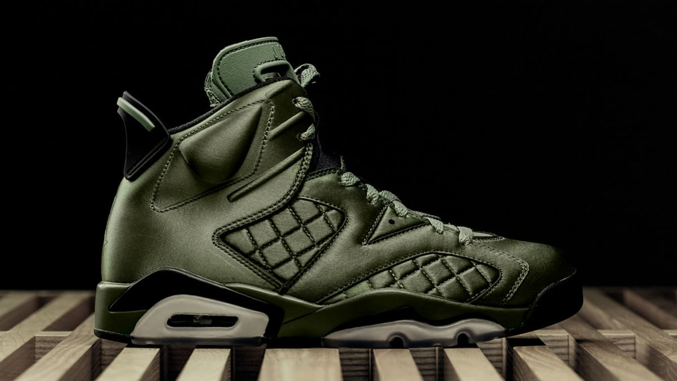 newest 7c598 8fe2a Air Jordan 6 VI SNL Green Satin Release Date Profile AH4614-303