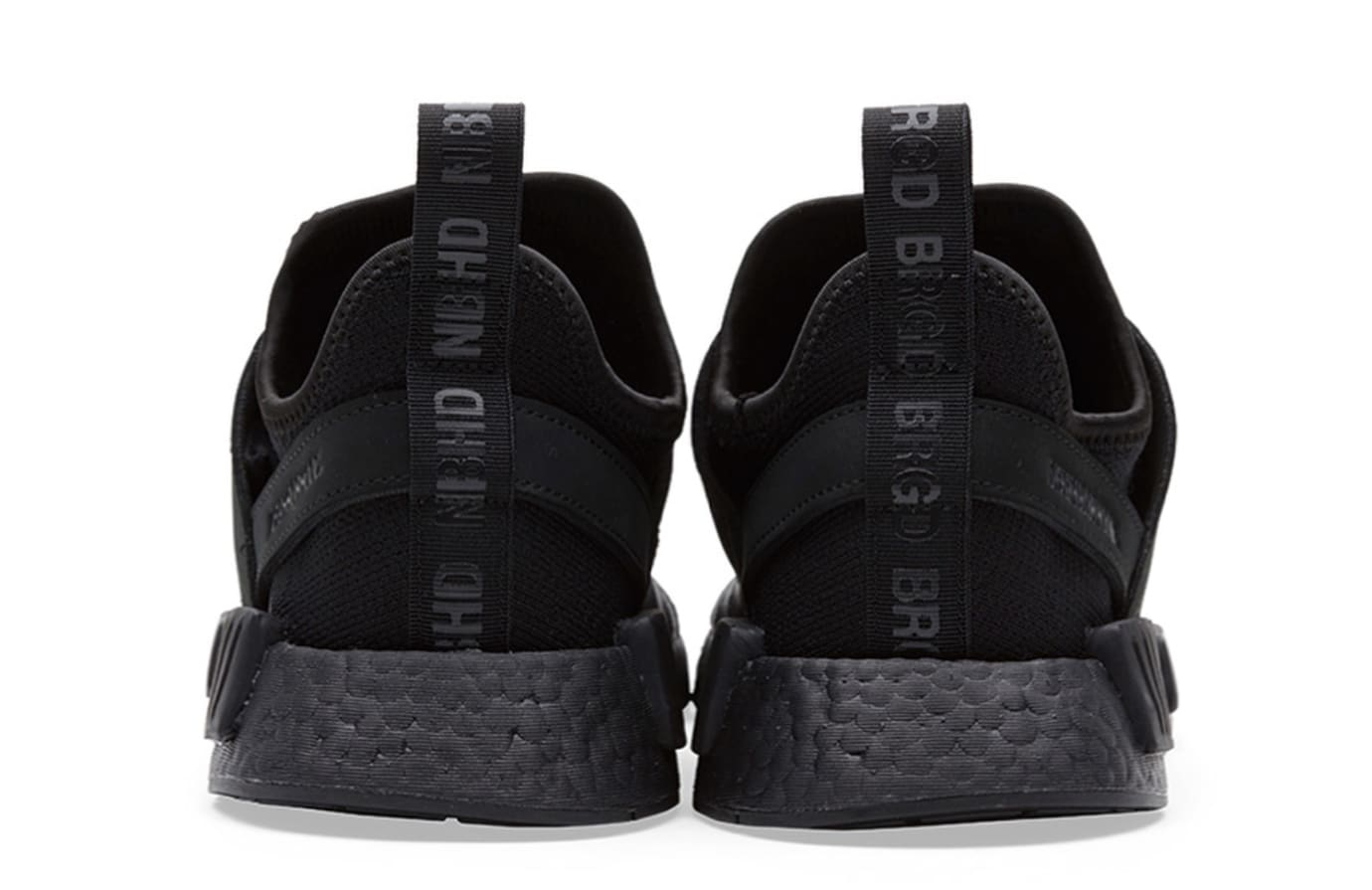 6e0046c43842c Image via neighborhood official · Neighborhood x Adidas NMD R1 PK  Triple  Black  (Heel)