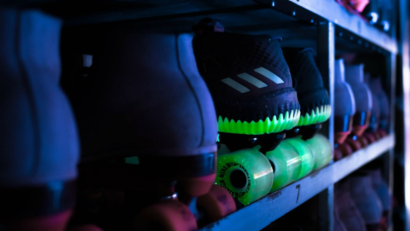Adidas Dame 4 Glow in the Park Release Date CQ1254 Skates Heel