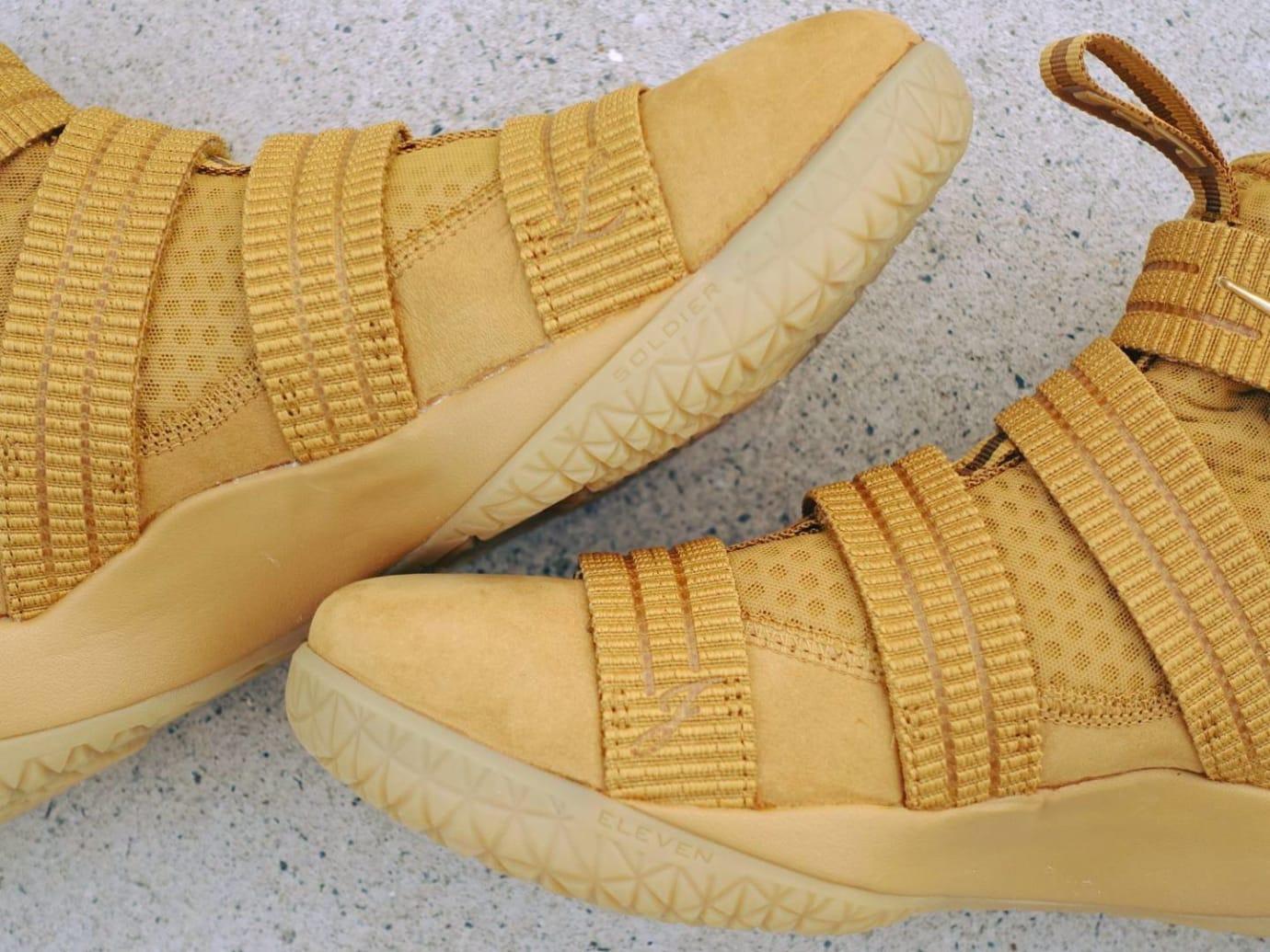 66b500827b9 Nike LeBron Soldier 11 SFG Wheat Release Date 897647-700 (3)