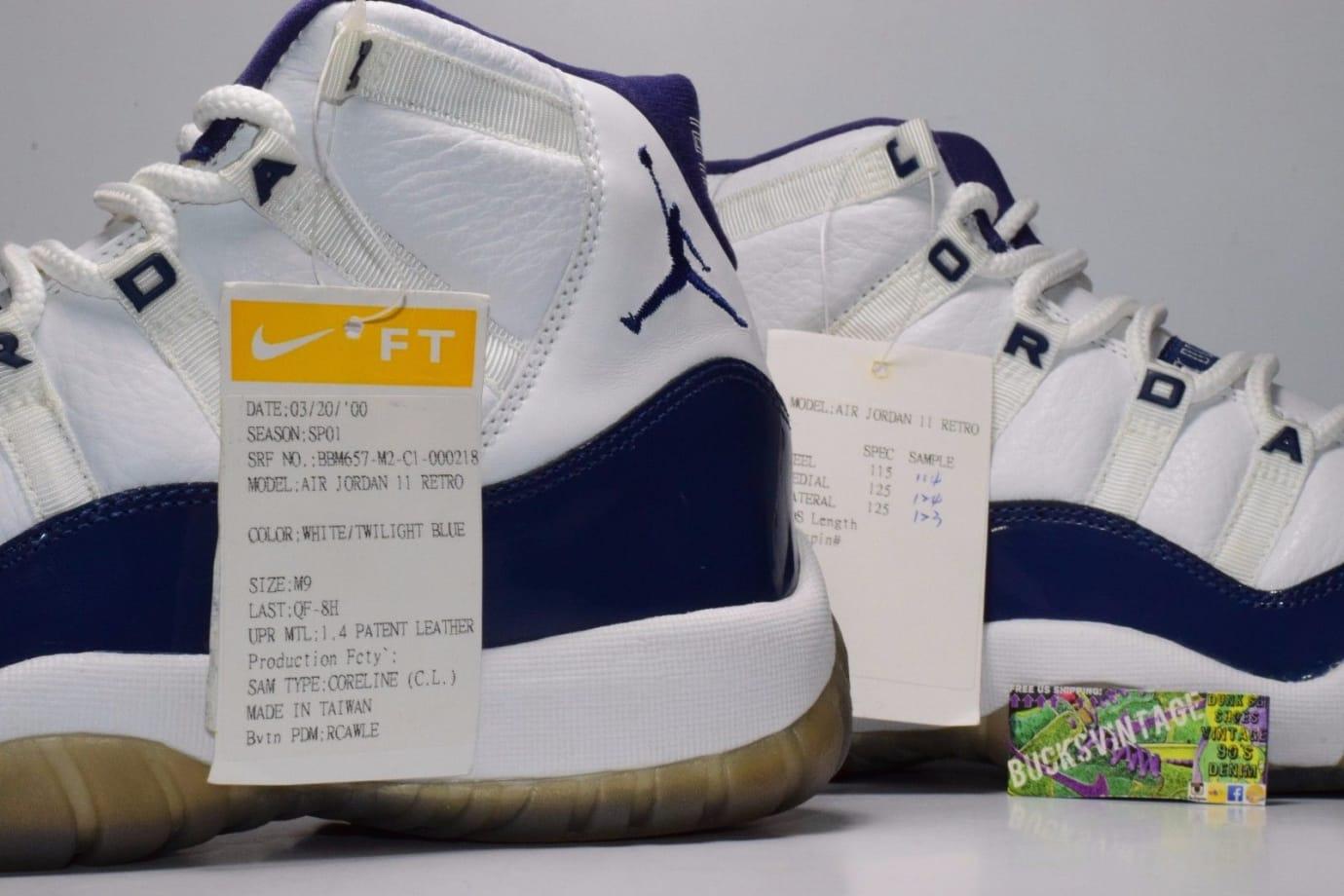 Air Jordan 11 XI Twilight Blue Letter Sample (9)