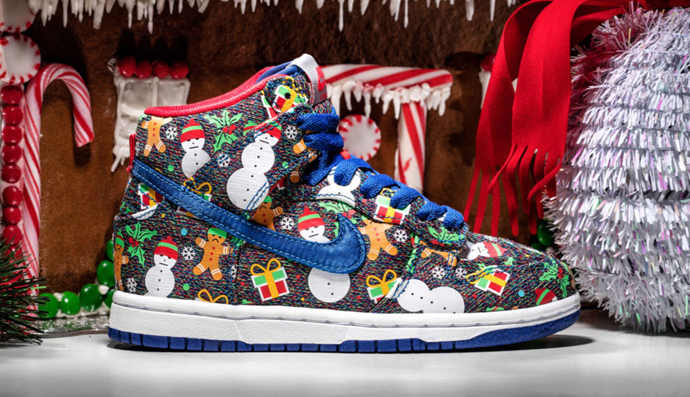 Nike SB Ugly Christmas Sweater Dunks 2017 Concepts 1