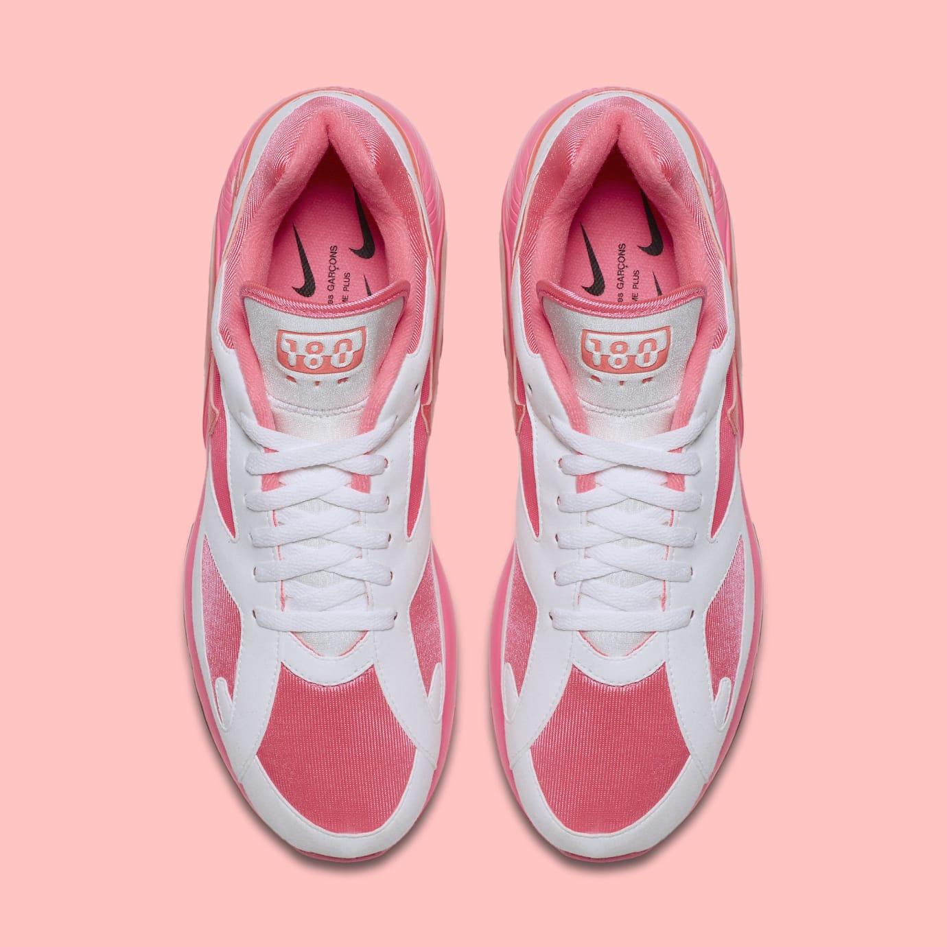 Comme des Garçons x Nike Air Max 180 'White' AO4641-600 (Top)