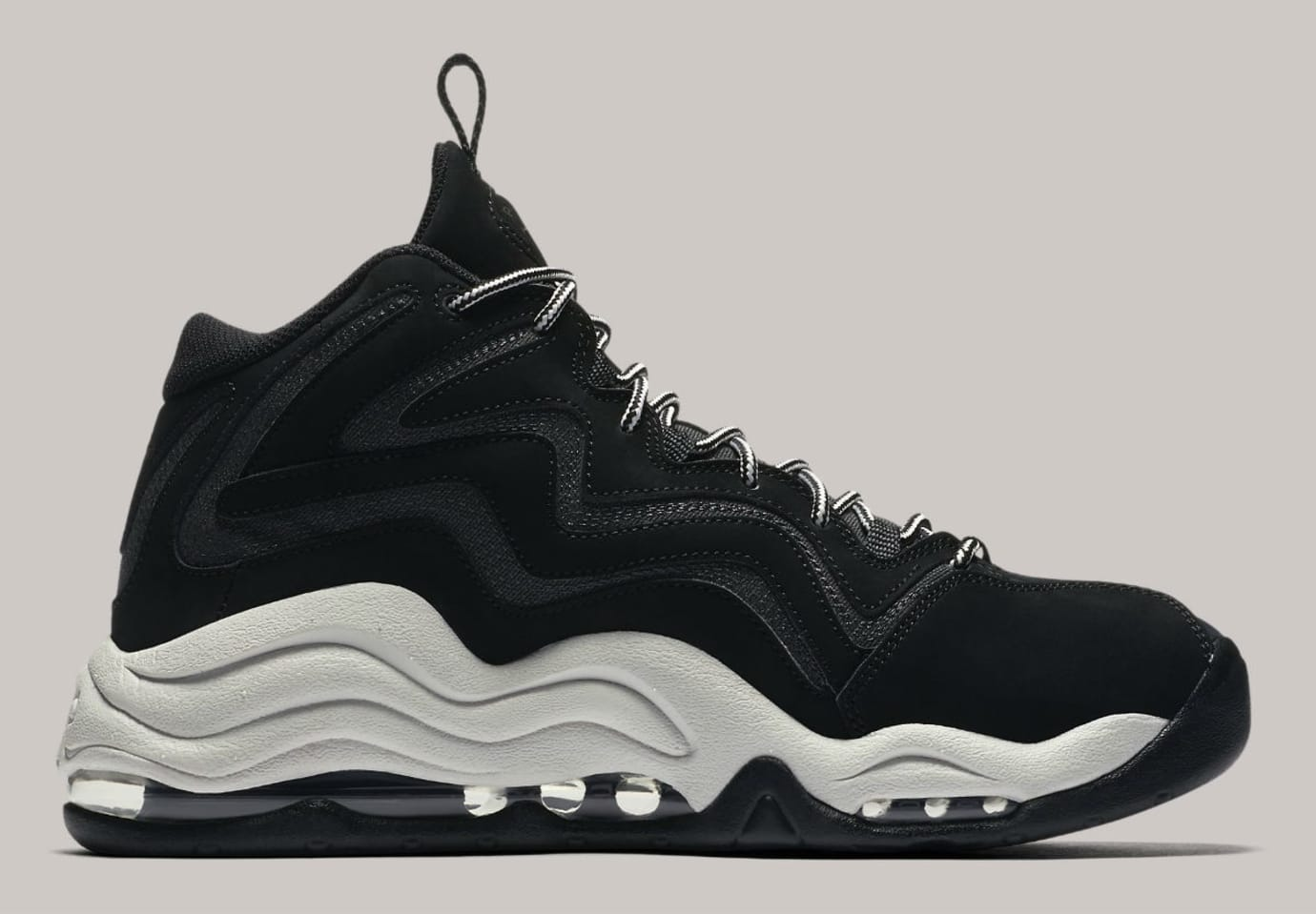 Nike Air Pippen Black Anthracite Vast Grey Release Date 325001-004 Medial
