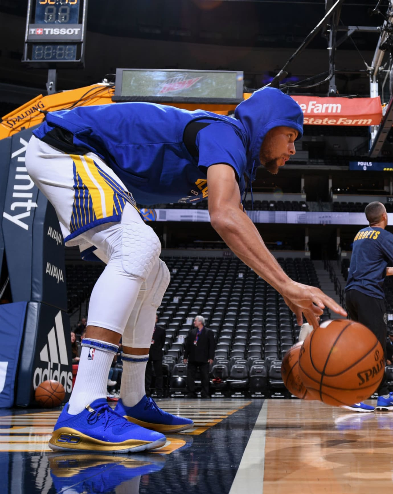 Stephen Curry Under Armour Curry 4 Low Blue Gold