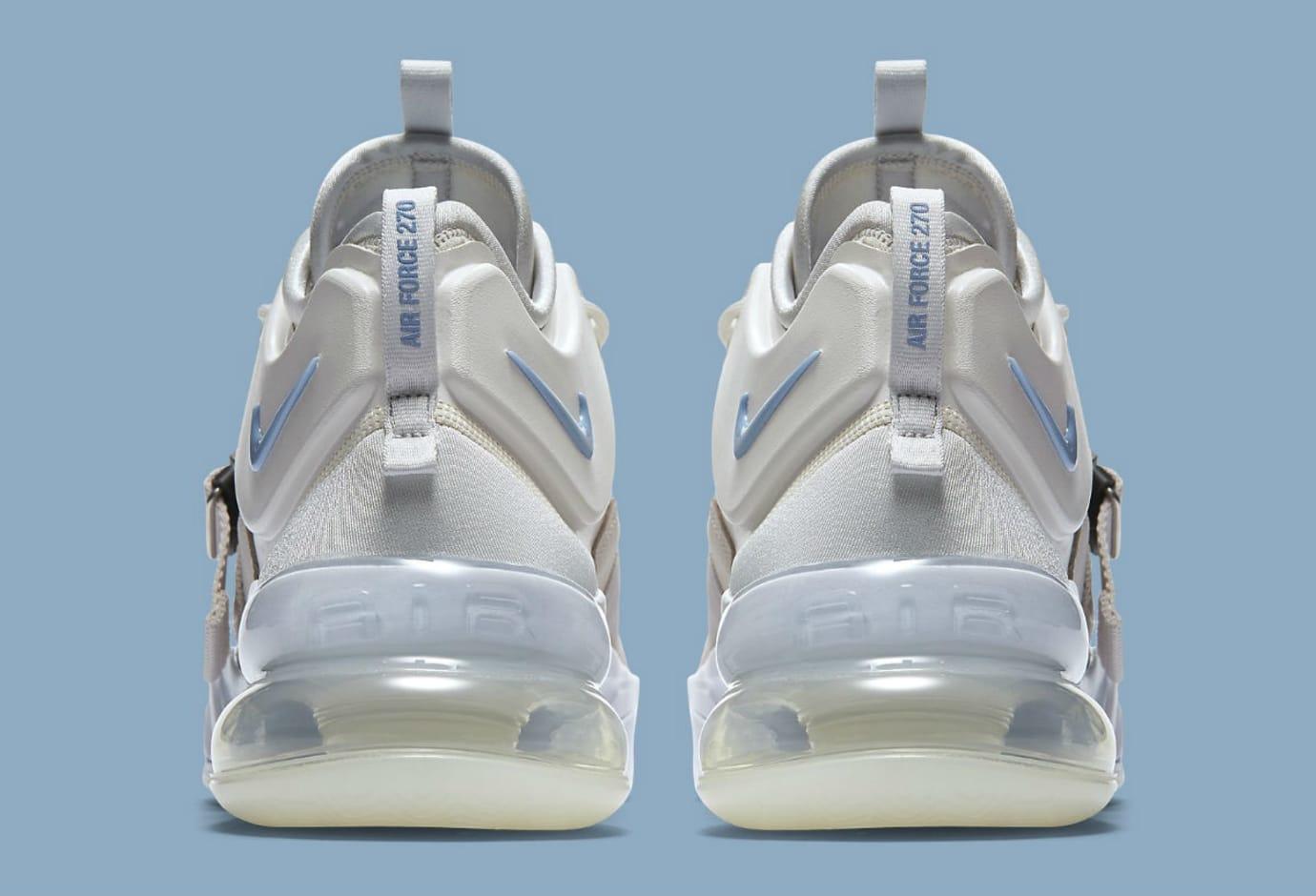 Nike Air Force 270 Wolf Grey White Release Date AH6772-003 Heel