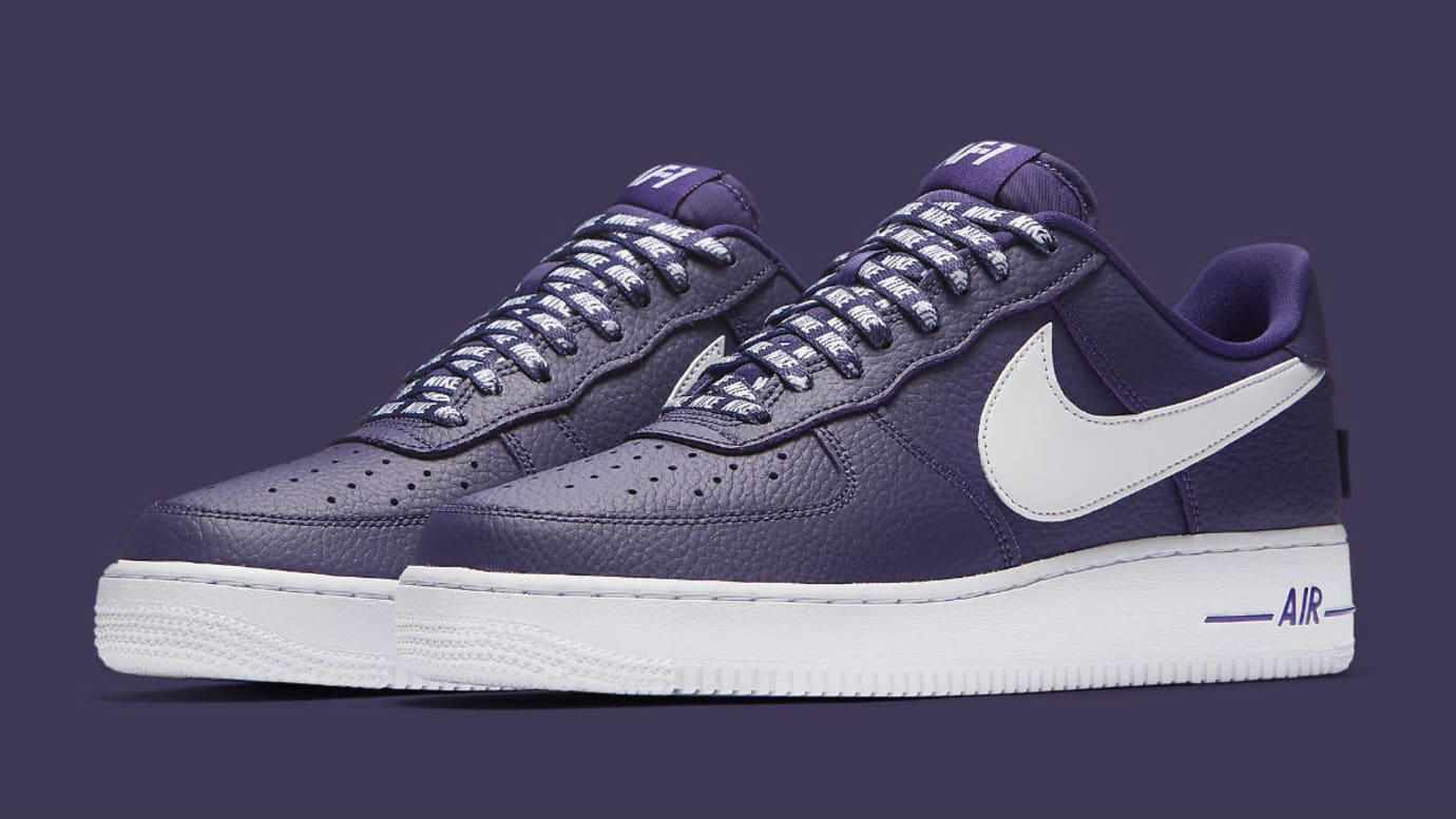 Nike Air Force 1 Low NBA Statement Game Purple Release Date 823511-501