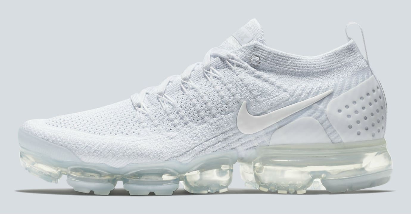 premium selection fd08a 9df39 Nike Air VaporMax 2 White Pure Platinum Release Date 942842 ...