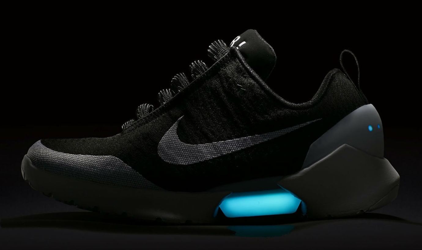 cheap for discount 64485 6e518 Nike HyperAdapt 1.0 BlackWhite Release Date AH9389-011 Dark Profile