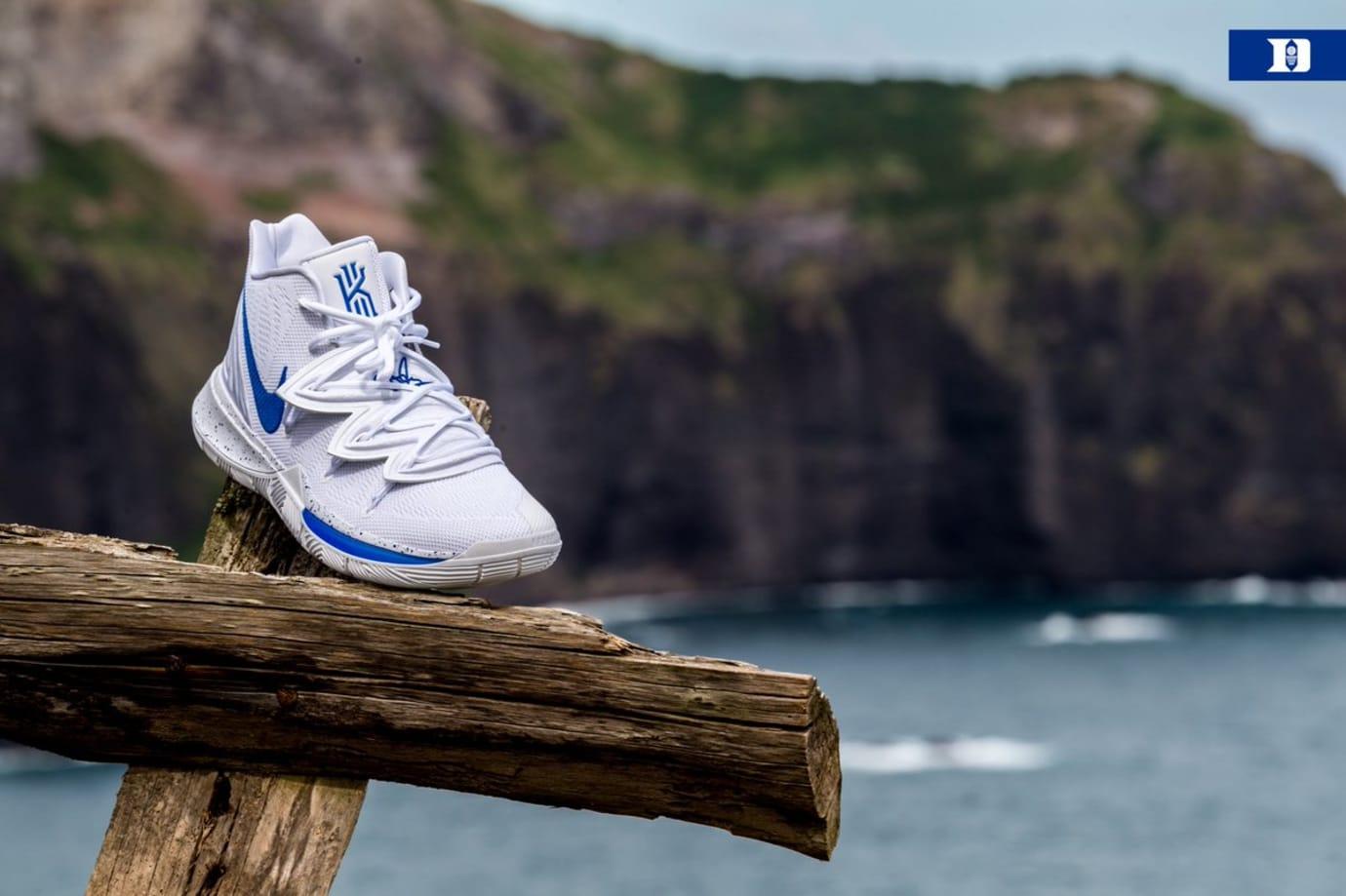 Nike Kyrie 5 'Duke' PE White (Front)