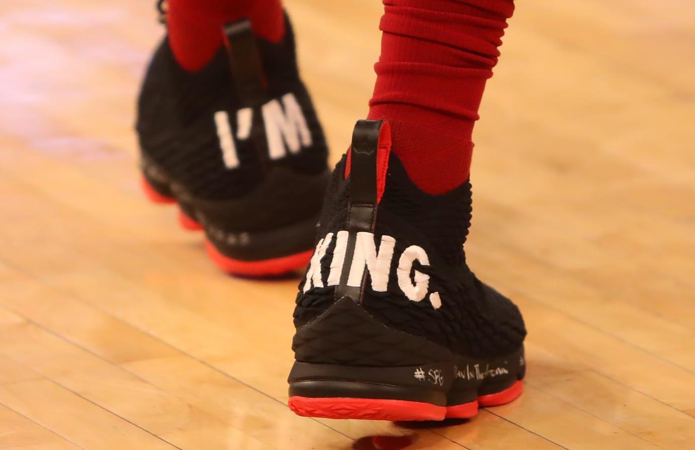46c14dd2da43 LeBron James Debuts Nike LeBron 15  I m King  PE