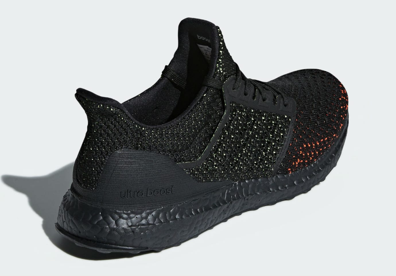 reputable site 41ea0 08106 Image via Adidas Adidas Ultra Boost Clima Black Solar Red Release Date  AQ0482 Heel