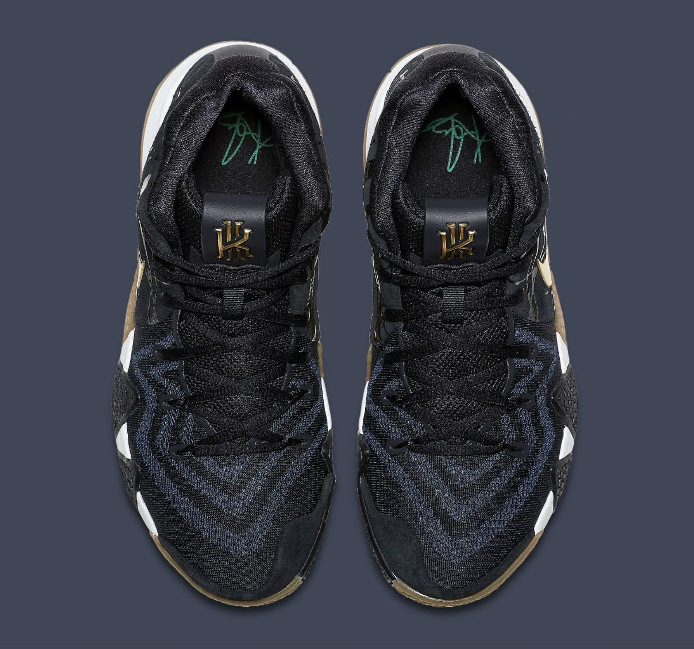 Nike Kyrie 4 Pitch Blue Gold Release Date 943807-403 Top 902137718