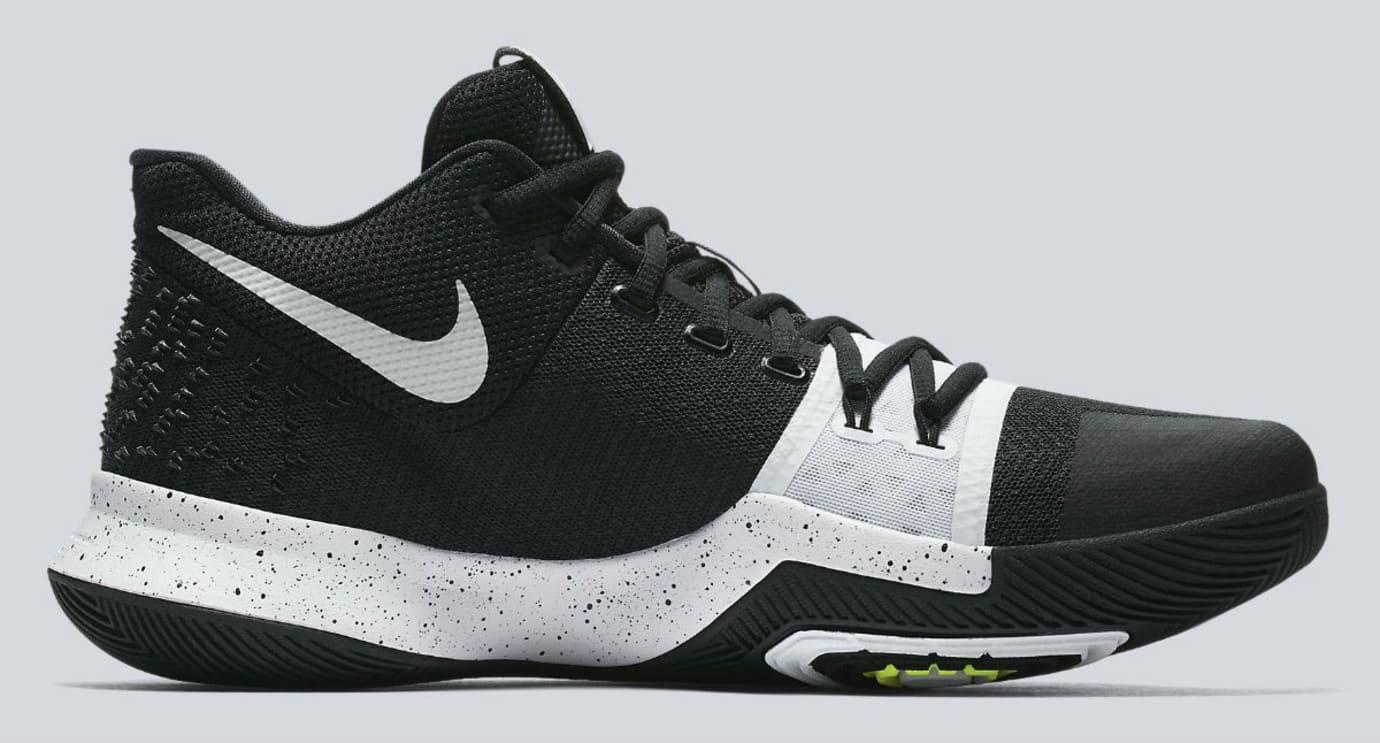 Nike Kyrie 3 Black White Tuxedo Release Date Medial 917724-001