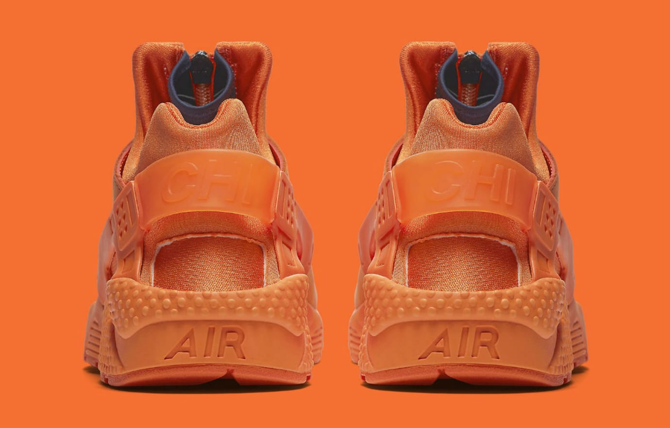 700dad47e Nike Air Huarache Run Chicago Orange Release Date AJ5578-800 Heel