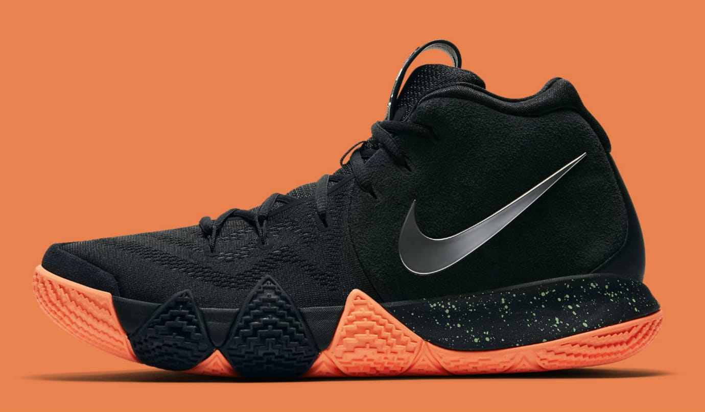 Nike Kyrie 4 Black/Silver-Orange Release Date 943806-010 Profile