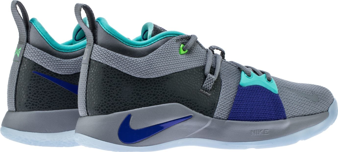 reasonably priced new arrive order online Nike PG2 Pure Platinum Neo Turquoise Wolf Grey Aurora Green ...
