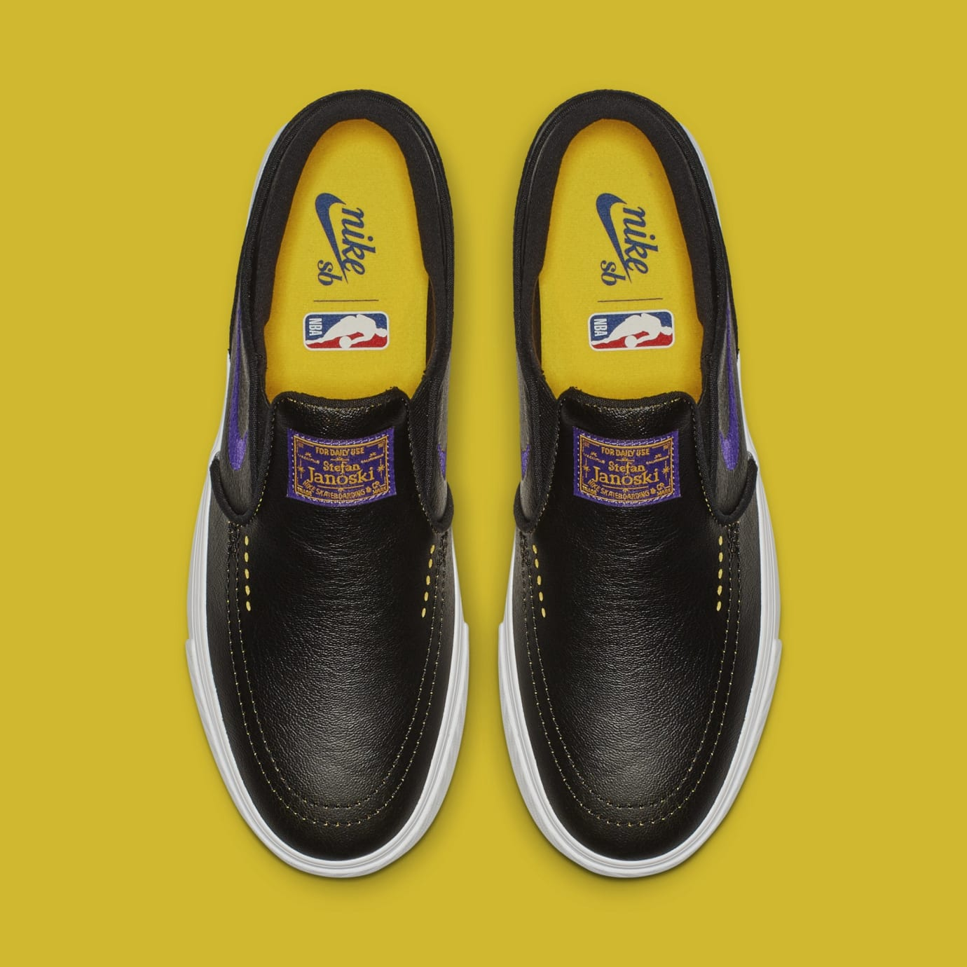 NBA x Nike SB Stefan Janoski Slip 'Lakers' BQ6396-024 (Top)