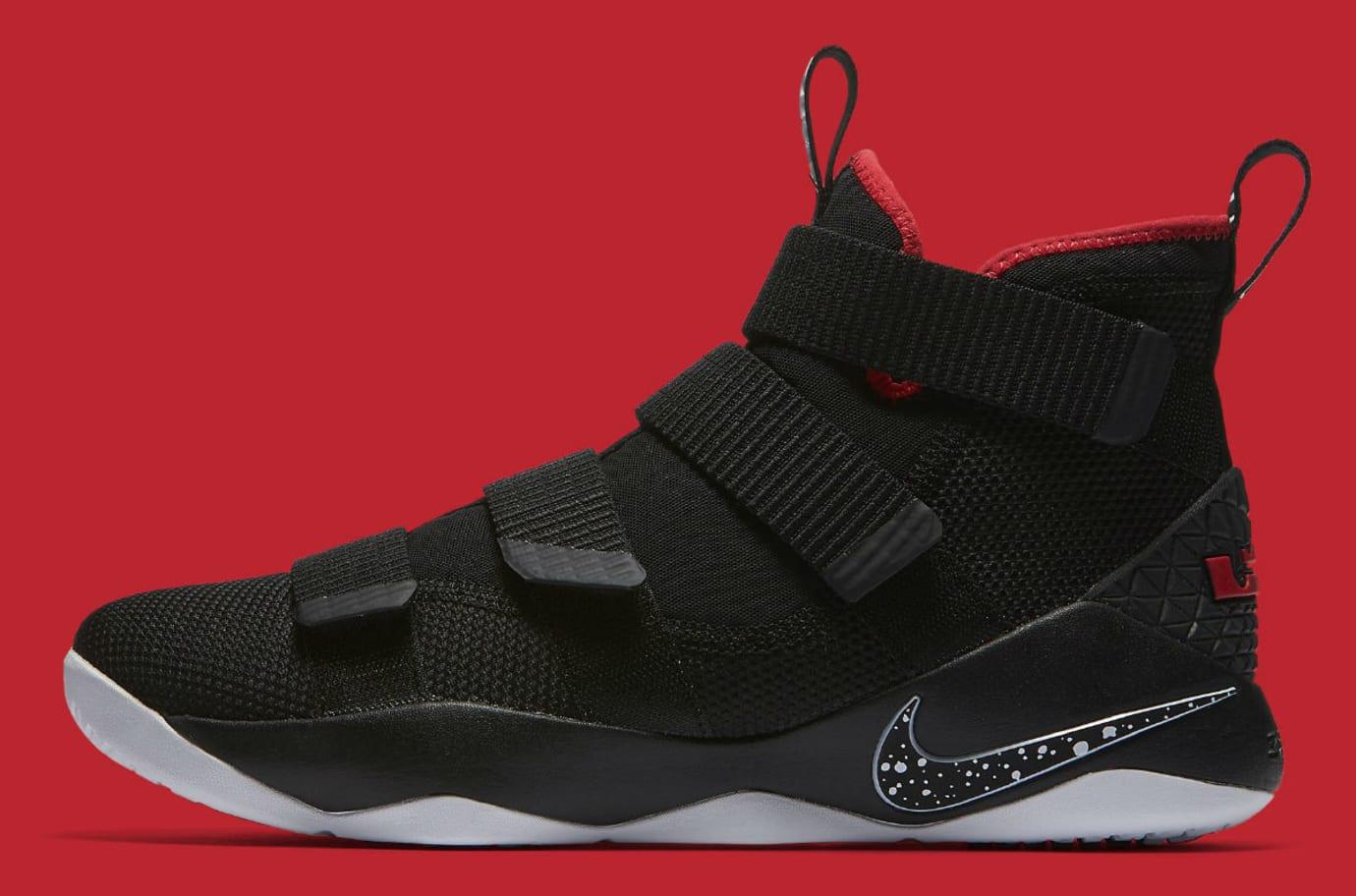 finest selection ebb2b e5e90 Nike LeBron Soldier 11 Bred Release Date Profile 897644-002