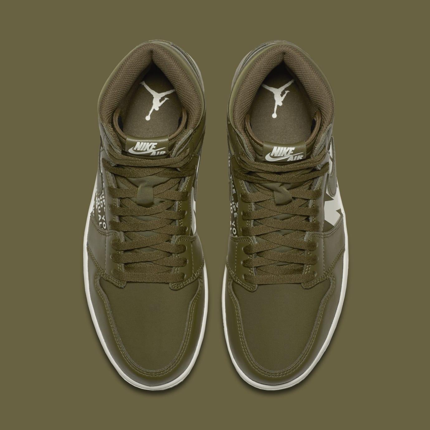 Air Jordan 1 'Nike Air Pack/Olive' 555088-300 (Top)