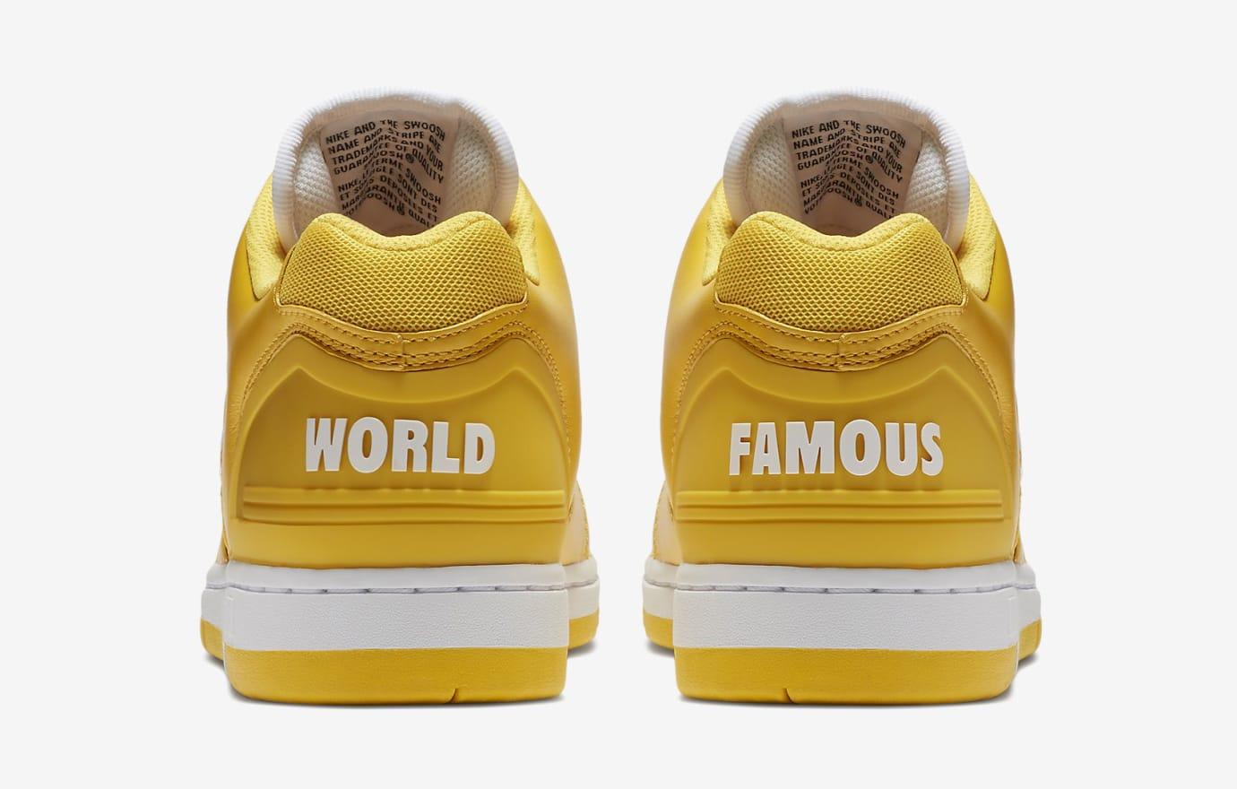 Supreme Nike SB Air Force 2 AA0871-717 Yellow Heel