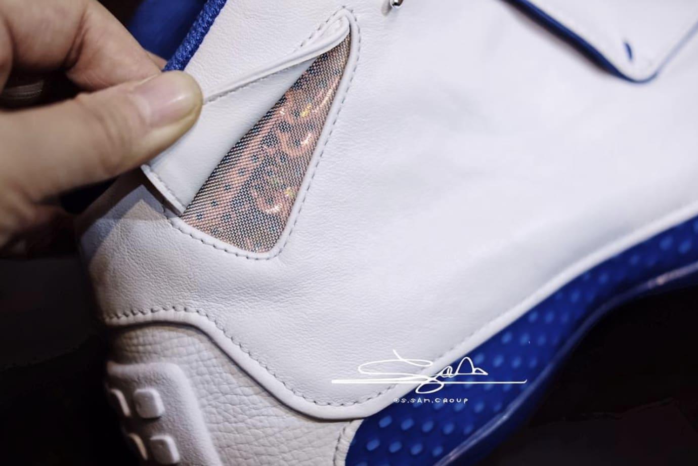 Air Jordan 18 White/Sport Royal-White-Metallic Silver AA2494-106 (Detail 3)