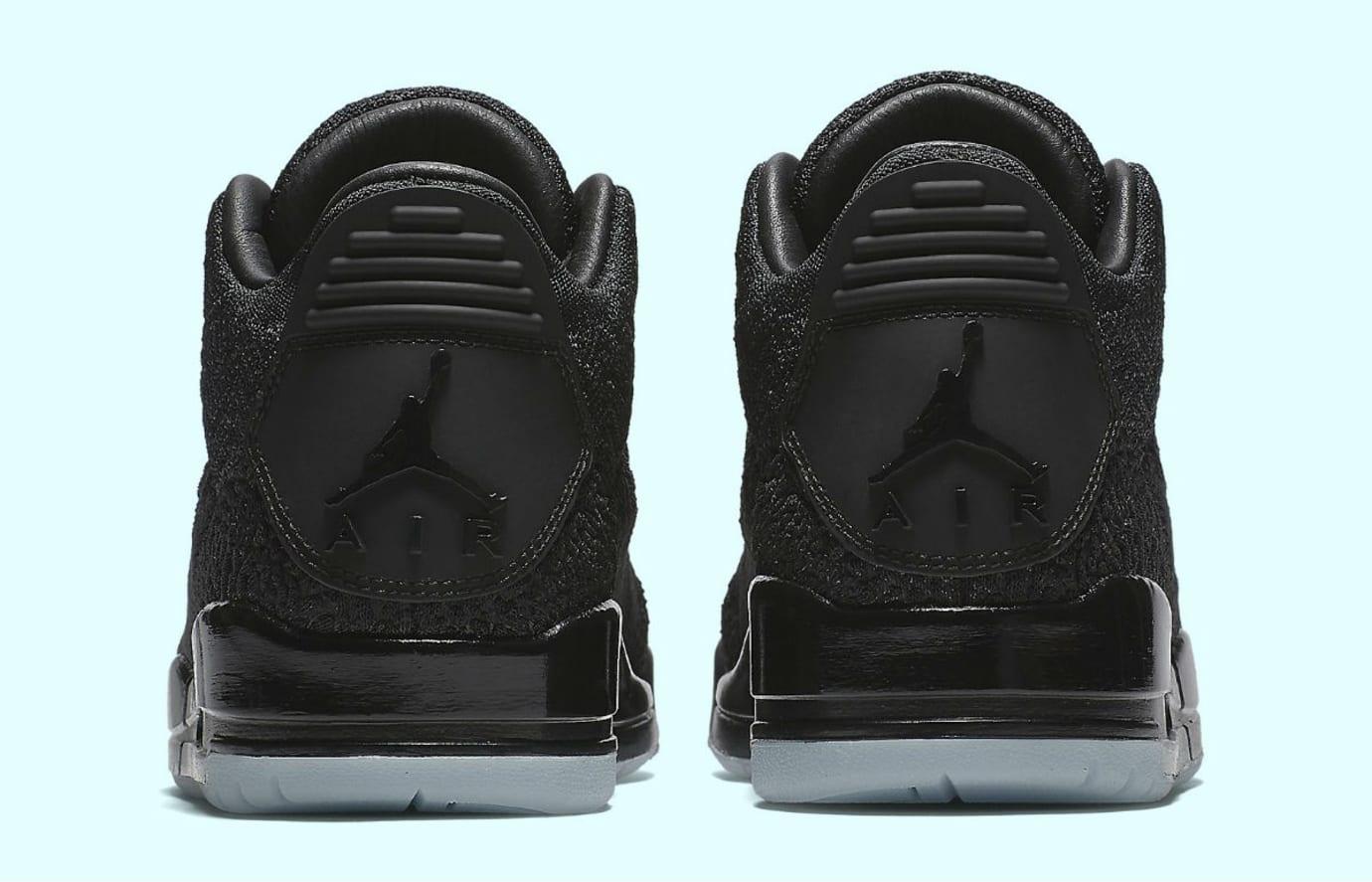 Air Jordan 3 Flyknit Black Release Date AQ1005-001 Heel
