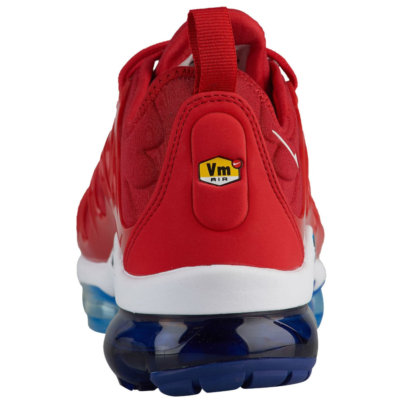 ef6367c62f6a4 Image via Foot Locker Nike Air VaporMax Plus USA Red White Blue Release  Date 924453-601 Heel