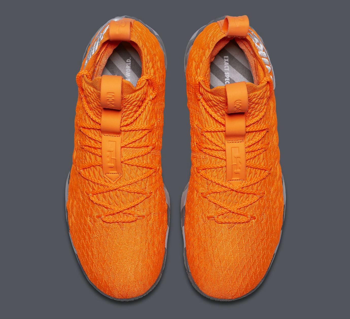 a1304e593ec1 Nike LeBron 15 Orange Box Release Date AR5125-800 Top