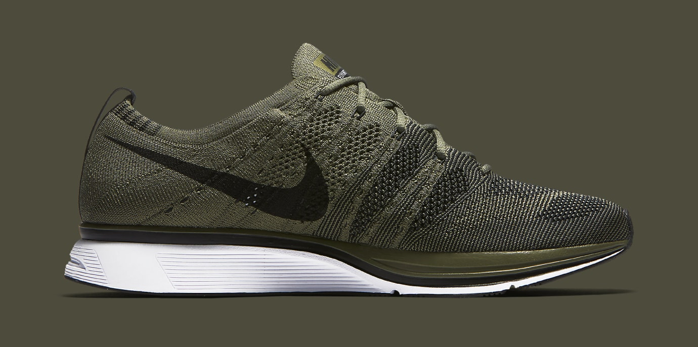 bcd7bb9ab0cb ... Image via Nike Nike Flyknit Trainer Olive AH8396-200 Medial ...