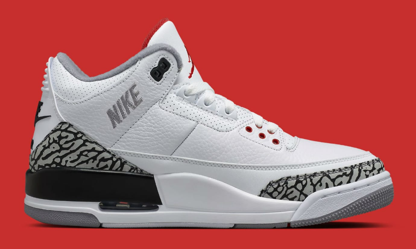 purchase cheap 16076 f7d58 Image via Nike Air Jordan 3 III JTH Timberlake Hatfield Super Bowl Release  Date AV6683-160 Medial