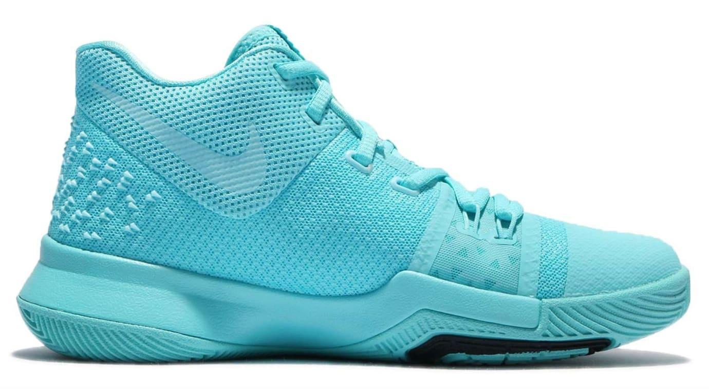 Nike Kyrie 3 GS Aqua Release Date Medial 859466-401