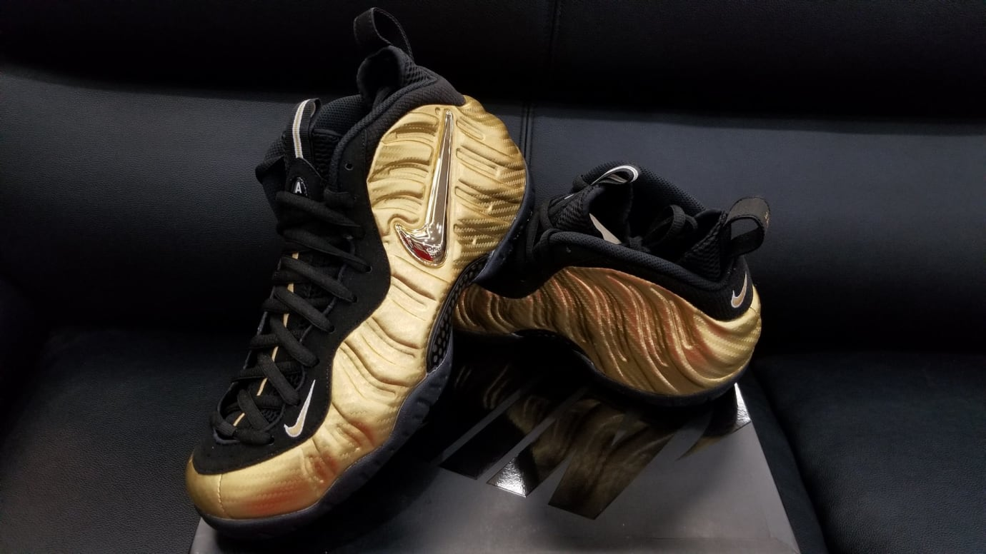 Nike Air Foamposite Pro Metallic Gold Release Date Lateral 624041-701