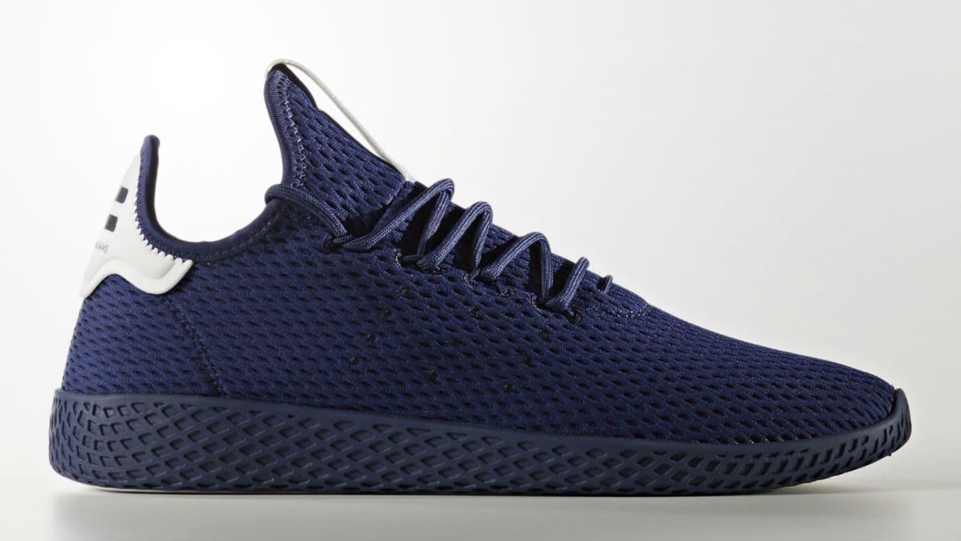 Pharrell x Adidas Tennis Hu Navy Release Date Profile