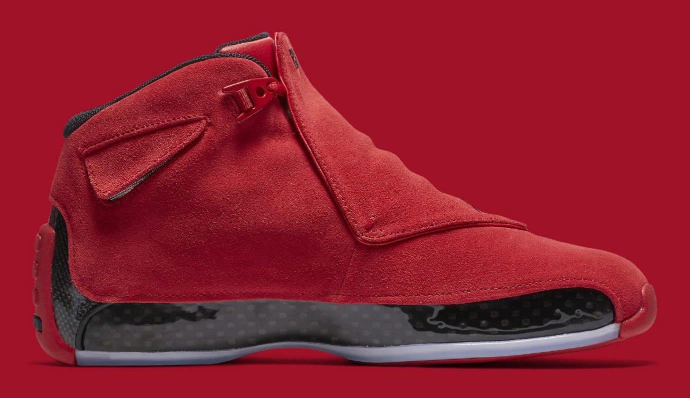 5d1eaf905cb699 Air Jordan 18 XVIII Toro Gym Red Release Date AA2494-601 Medial