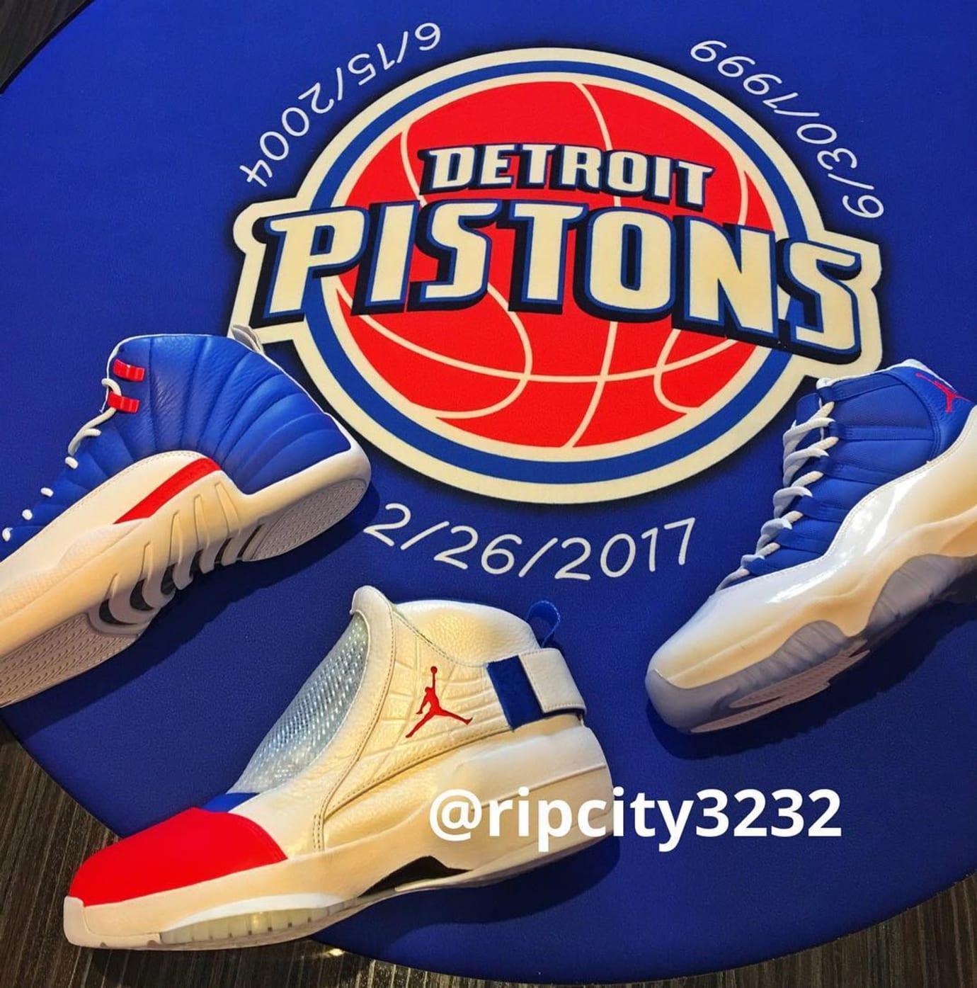 Rip Hamilton Air Jordan 11, 12 & 19 Detroit Pistons PE