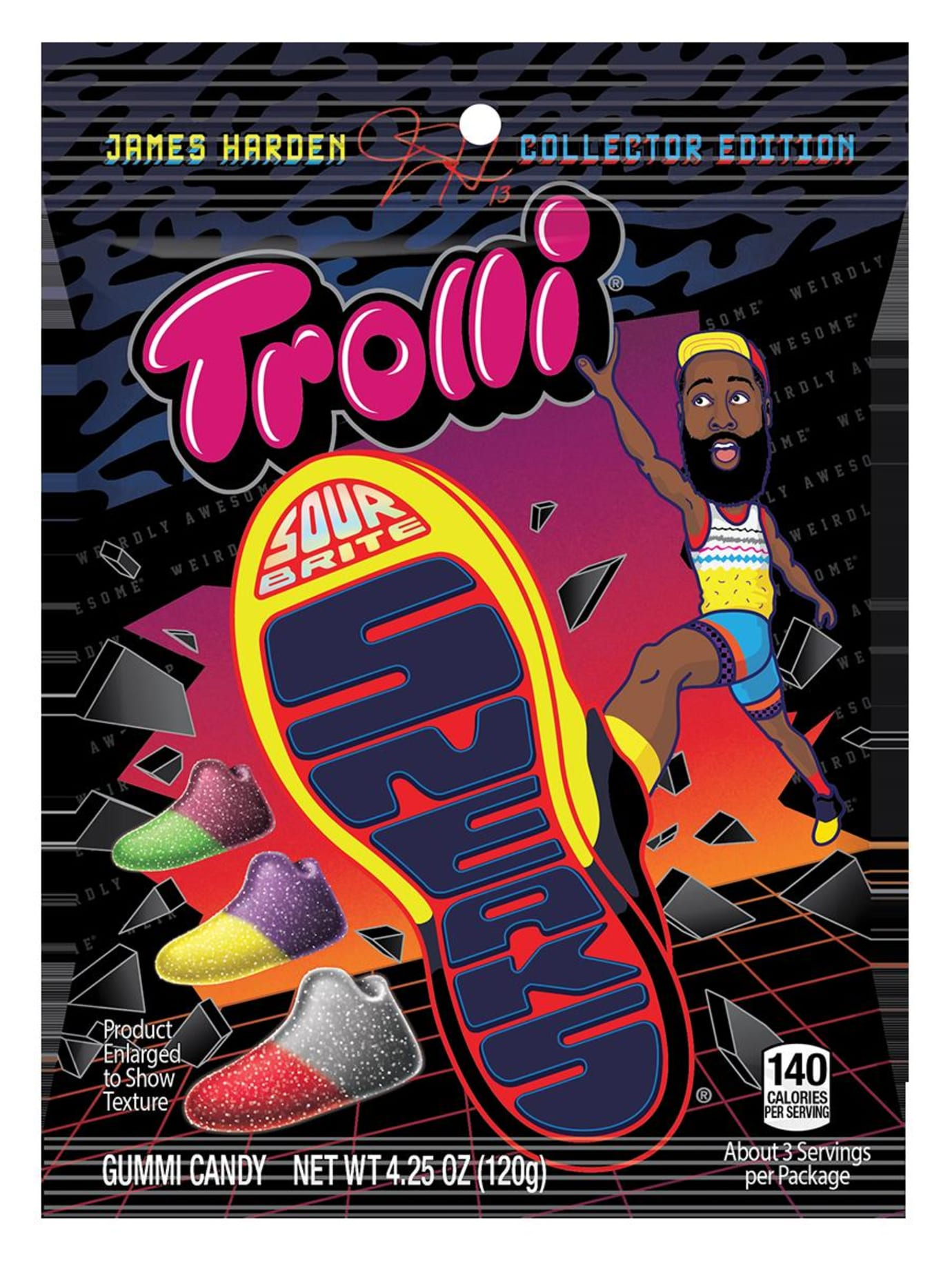 James Harden Sour Brites Sneaks Candy 2